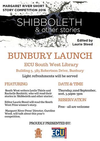 Bunbury Launch - Shibboleth & other stories
