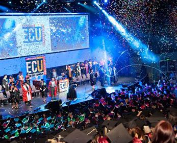 ECU graduation ceremony in January 2016