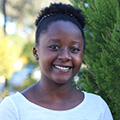Master of Environmental Science student, Patricia Ngati