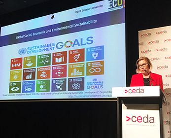 CEDA Cobie Rudd presenting