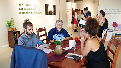 Conversations Around the Kitchen Table at ECU's Spectrum Project Space