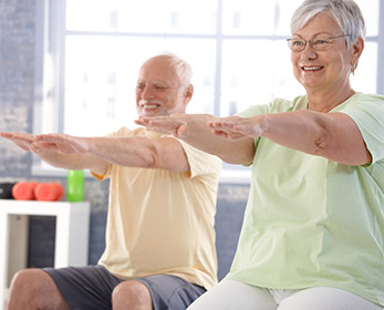 Exercise as part of 'Think Well Live Well' event series