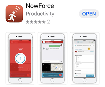 Nowforce safety app