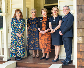 Professor Cobie Rudd, Ms Libby Lyons, the Honourable Kerry Sanderson AC CVO, the Honourable Simone McGurk MLA, Professor Steve Chapman CBE