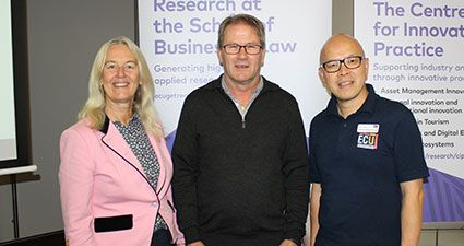 Professor Kerry Brown, Dr Dale Putland, and Associate Professor Ferry Jie