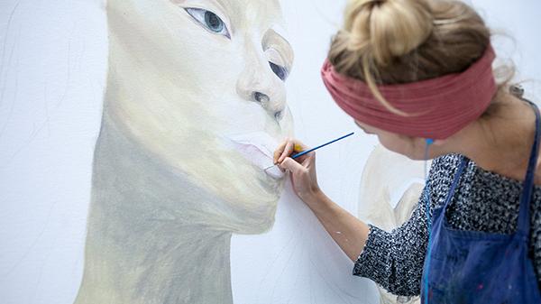 Painting studio at ECU Mount Lawley Campus