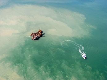 Parker Point dredging plume