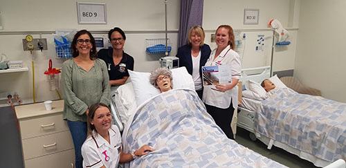 Nursing staff and students