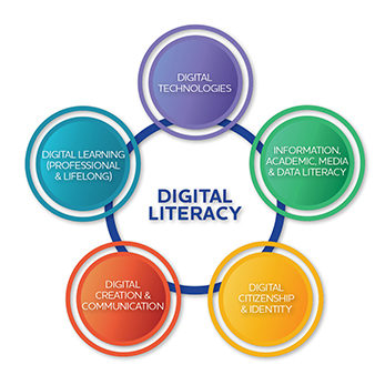The Digital Literacy Framework consists of five main strategies working together