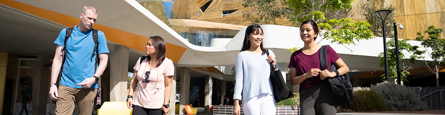 Students on ECU Joondalup Campus