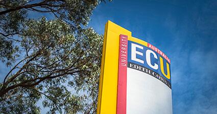 ECU campus signage