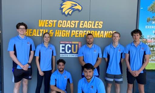 Football Performance major students visit West Coast's High Performance Centre
