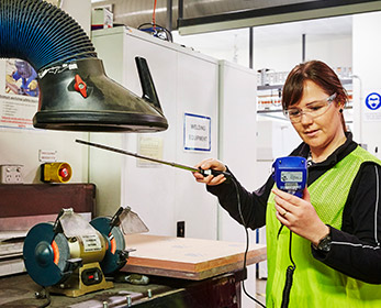 Students gain real world practical experience in assessing workplace hazards.