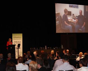 Professor Rudd delivering the Plenary Address