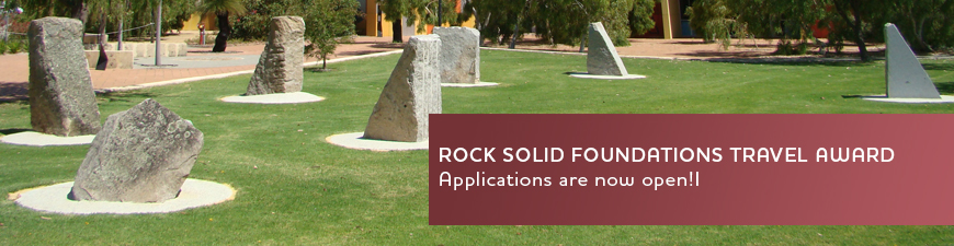 Rock Solid Foundations Travel Award Open banner