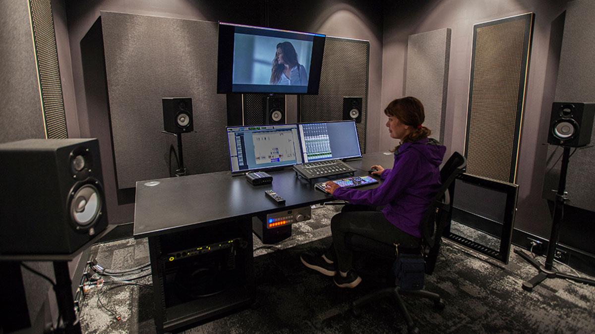 WA Screen Academy Sound Studio on ECU Mount Lawley Campus.
