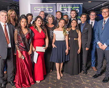 A photo of School of Science staff and students at the 2019 WA Cyber Awards.