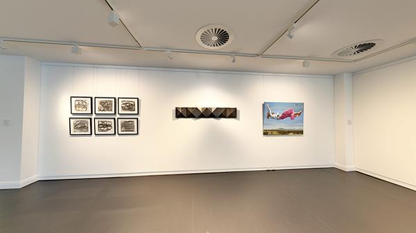 ECU gallery 25 exhibition space showcasing student artwork