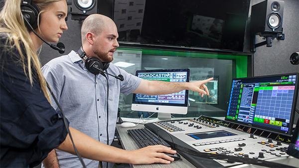 Postgraduate Broadcasting Radio Studio on ECU Mount Lawley Campus