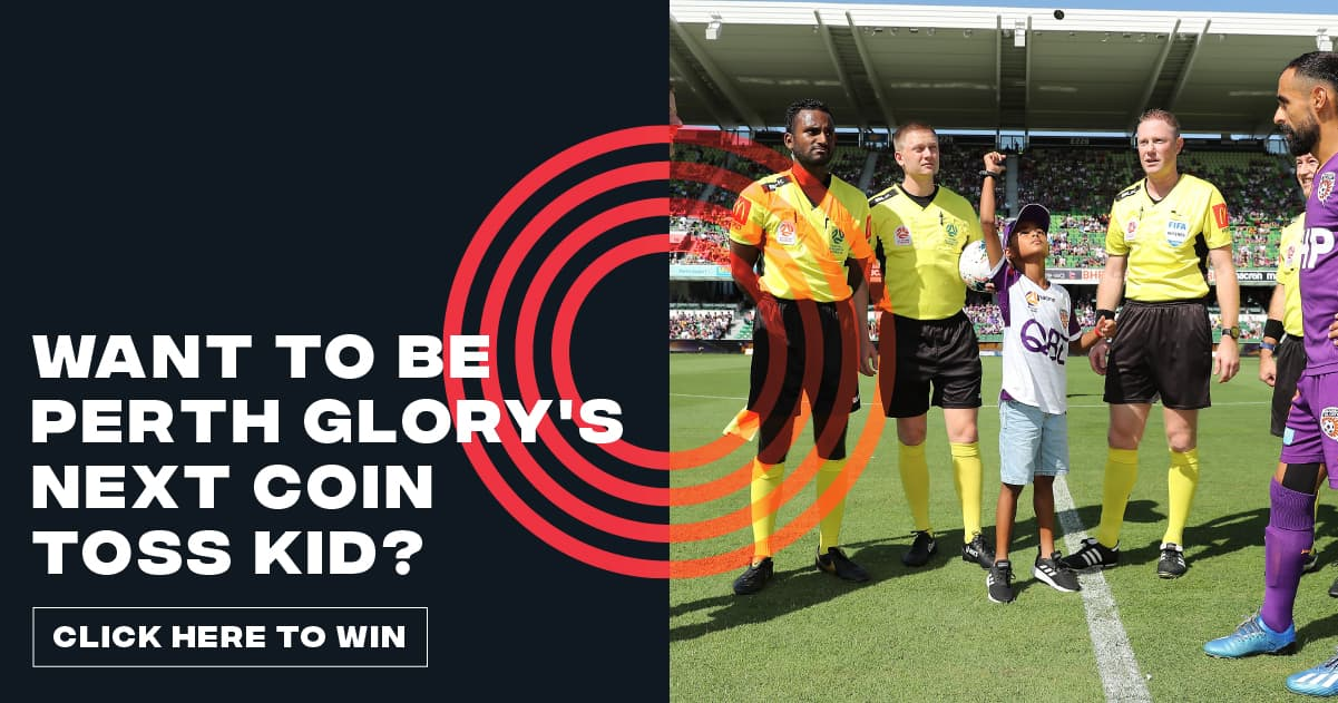 Win tickets to Perth Glory and a chance to be the Coin Toss Kid