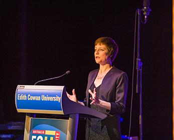 Professor Linda Merrick spoke on The value of performing arts education.