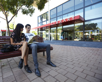 Outside the Mount Lawley Campus Library