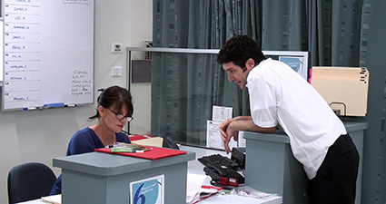 Image shows a scenario demonstrating discharge planning