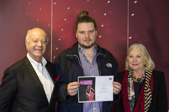 Tom Walsh, Woss Family Scholarship recipient